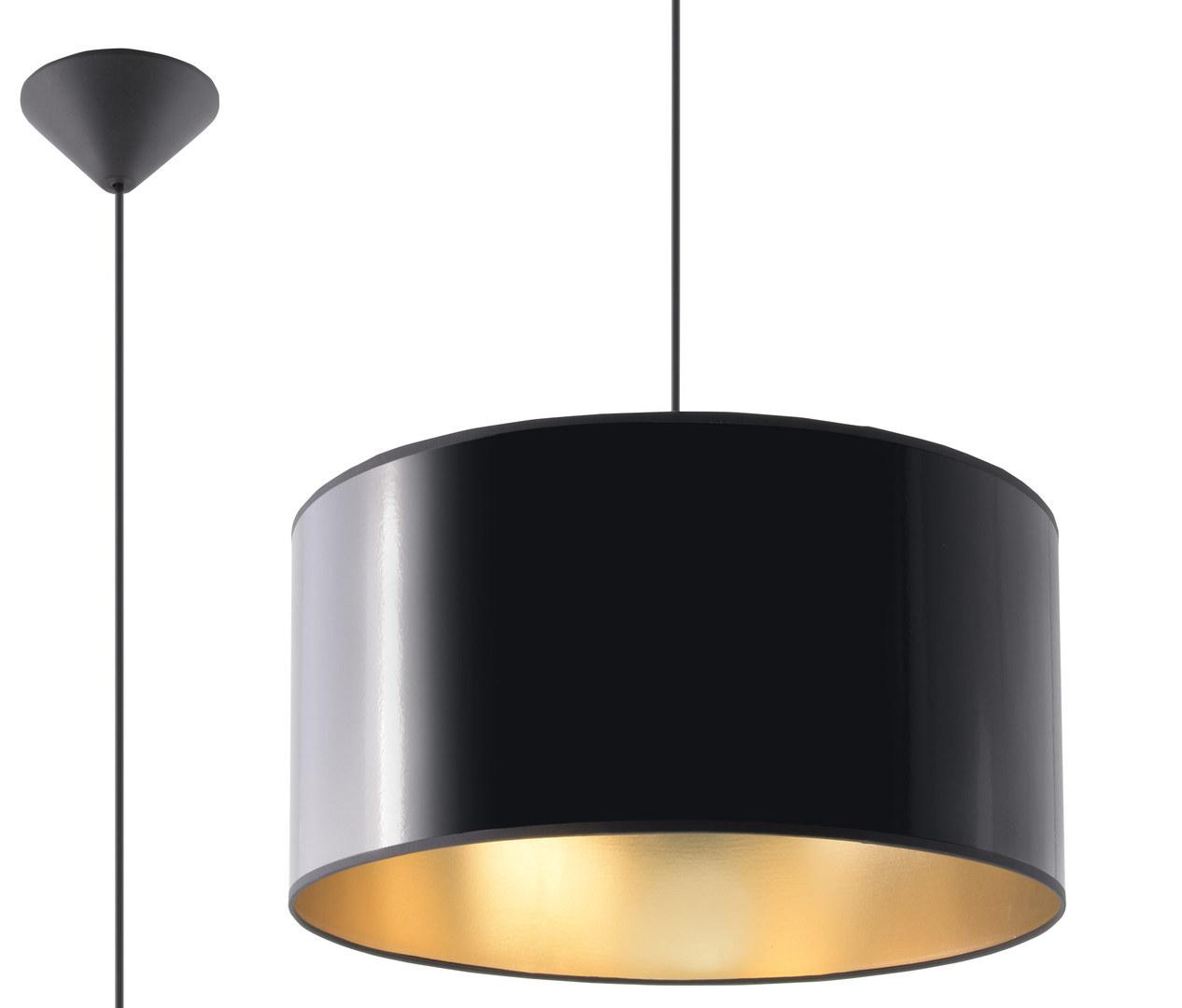 Černá závěsná lampa LUXOR 40