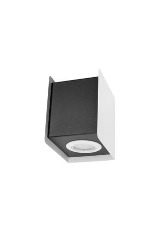 Nástěnná lampa STEREO 1 bílá / černá