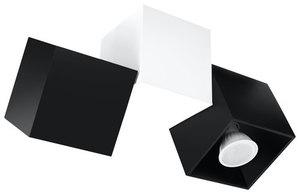 OPTIK NERO 3 stropní lampa černá / bílá small 0