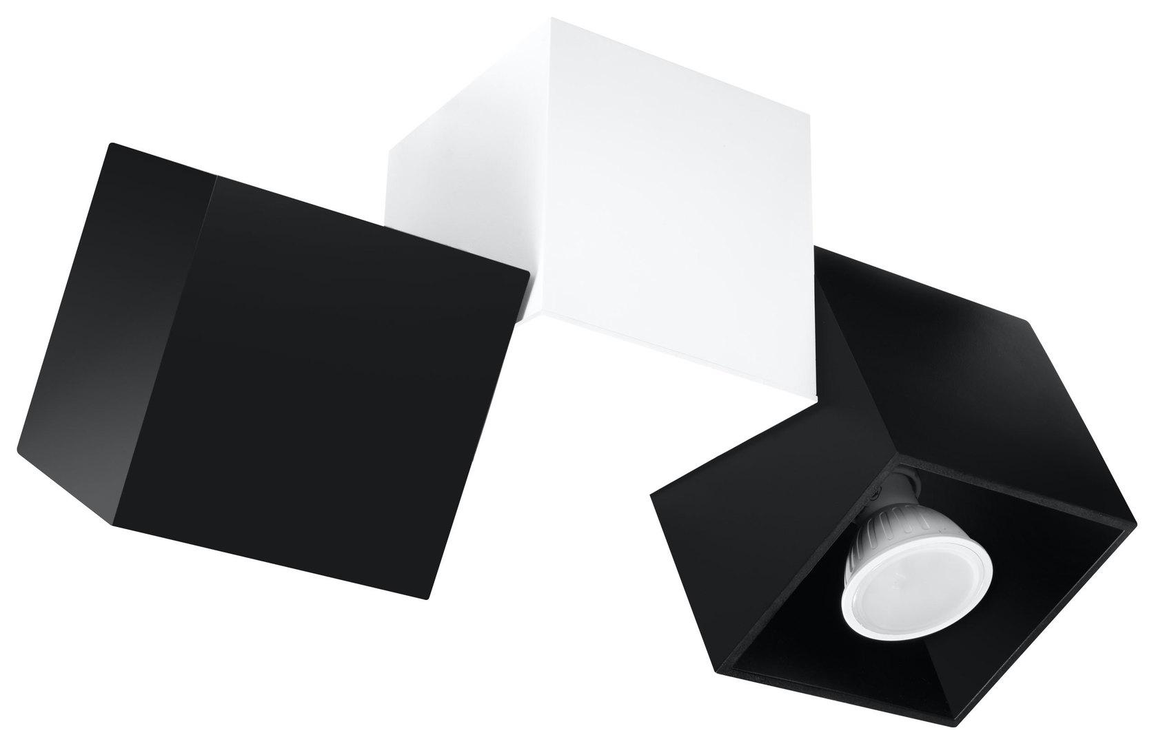 OPTIK NERO 3 stropní lampa černá / bílá