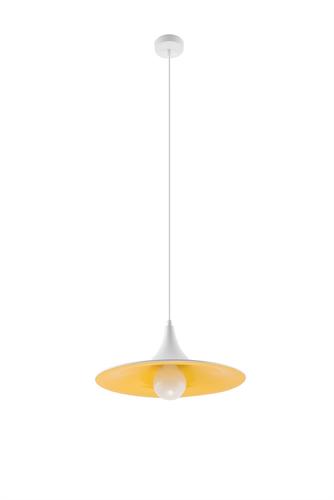 Závěsná lampa AVENA bílá / zlatá
