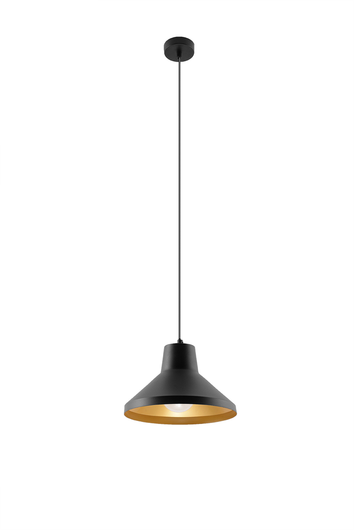 Závěsná lampa PALOMA černá / zlatá