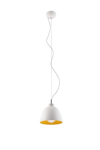 Závěsná lampa SERENA bílá / zlatá