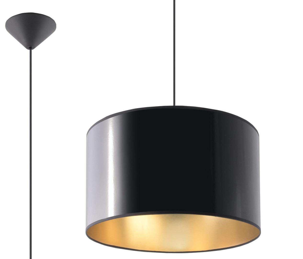 Černá závěsná lampa LUXOR 30