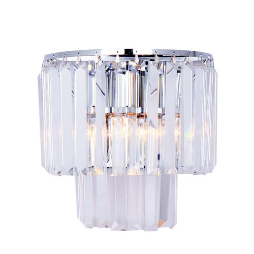 17106 / 2W-CHR AMEDEO WALL LAMP CHROME / CHROME
