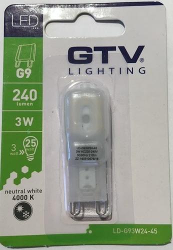 GTV LED G9 3W 4000K - stmívatelná