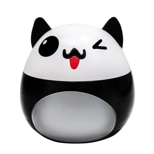 Biało - czarny nawilżacz powietrza LED w kształcie kota z wiatrakiem oraz lampką USB