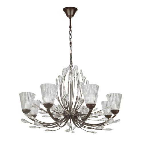 Závěsná lampa Leticia Flora 8 Černá - 343012008
