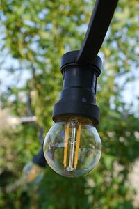 Zahradní žárovka Garland 20m 20 držáků nástrojů černá small 3