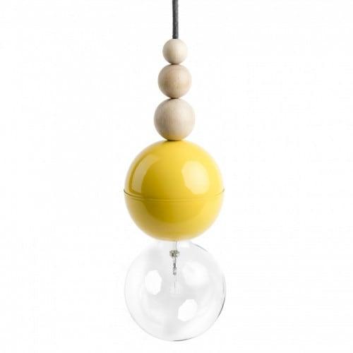 Loft Bala žlutá přívěsek lampa