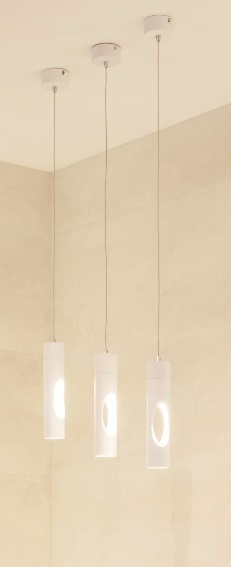 GOLDEN závěsná lampa bílá P0177 Max Light