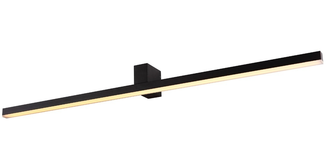 Nástěnná lampa velká černá IP54 W0232 Max Light