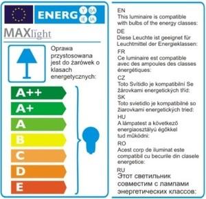 Honey Amber závěsná lampa P0297 Max Light small 3