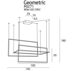 Geometrický s funkcí stmívače P0271D Max Light small 2