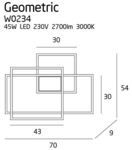 Geometrická nástěnná lampa bílá W0234 Max Light small 2