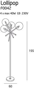 Lollipop stojací lampa F0042 Max Light small 2