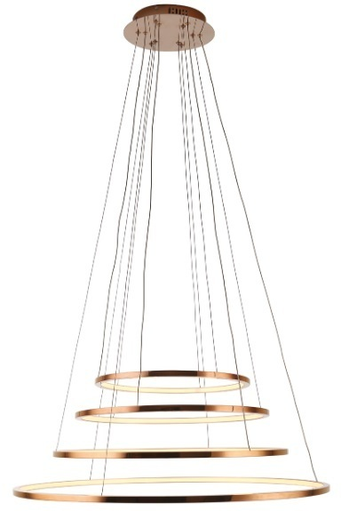 Měděná lampa Queen IV se stmívatelným světlem P0244D Max Light