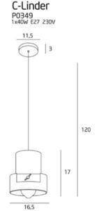 Závěsná lampa C-Linder P0349 Max Light small 3