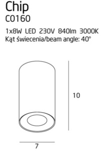 Čip C0160 Stropní bílá 840LM Max Light small 1