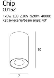 Čip C0162 Stropní bílá 920LM Max Light small 1