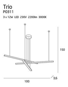 Trio P0311 Závěsná lampa Max Light small 8