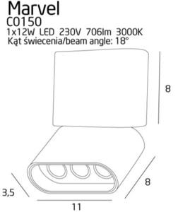 Stropní lampa Marvel C0150 / strop černá Max Light small 1