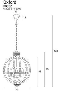 Oxford závěsná lampa P0322 Max Light small 2