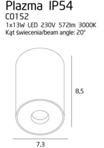 Plazmový strop bílý IP54 C0152 Max Light small 2