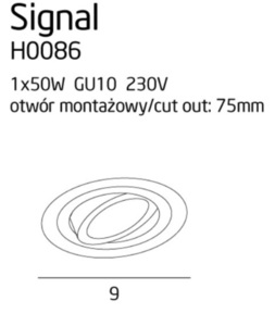 Signal I H0086 zapuštěná černá Max Light small 3