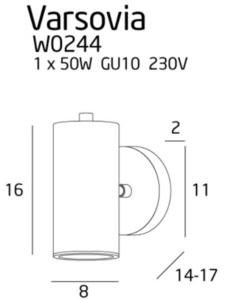 Varsovia nástěnná lampa W0244 Max Light small 1