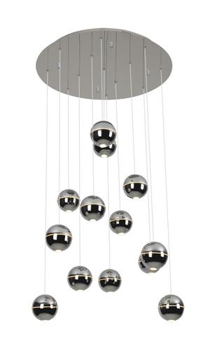 Závěsná lampa Zen 13 chrom P0317 Max Light