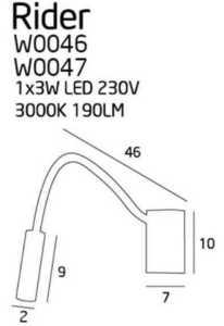 Svítidlo RIDER bílé W0047 Max Light small 1