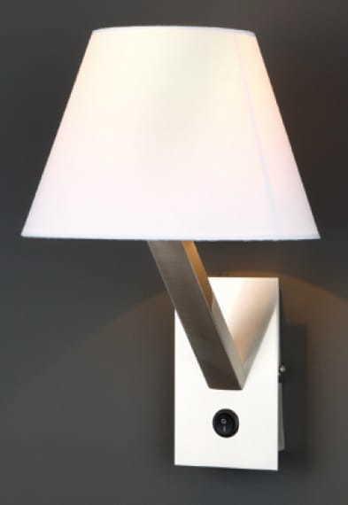 Orlando svícen bílý satén 5103W / WHNM Max Light