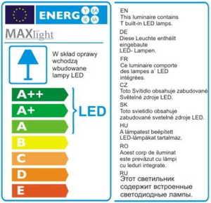 Nástěnná lampa Orlando + led bílé saténové 5103WA / WHNM Max Light small 3