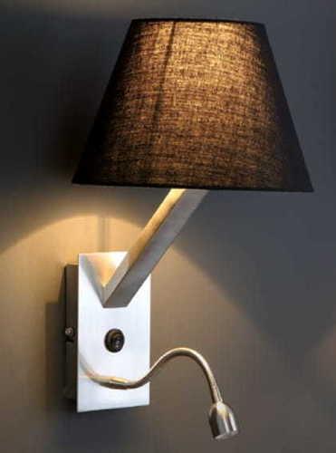 Nástěnná lampa Orlando + led černá saténová 5103WA / BLNM Max Light