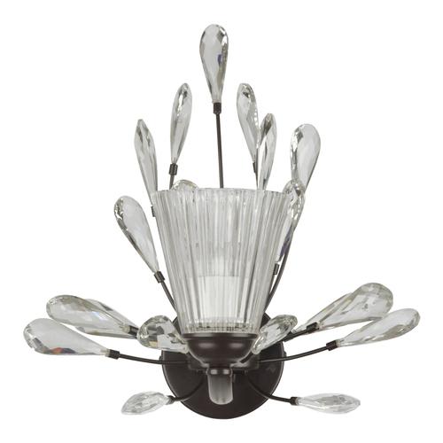 Nástěnná lampa Leticia Flora 1 Černá - 343021701