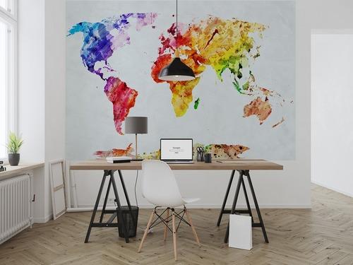 Fototapeta Akvarel mapa světa