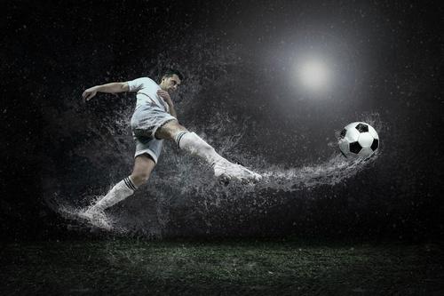 Fototapeta, Fotbalista, kapky deště, Fotbal, Fototapeta pro chlapecký pokoj
