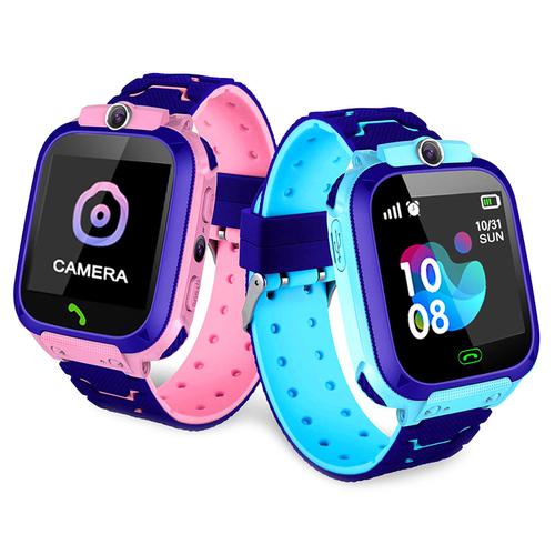 Modré chytré hodinky pro děti s GPS polohou