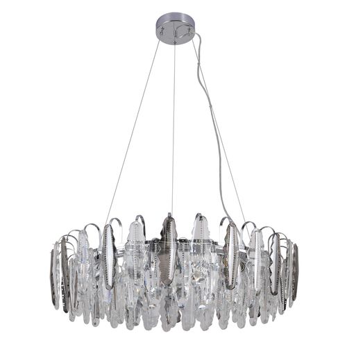 Závěsná lampa Clarissa Crystal 11 Chrome - 437013111