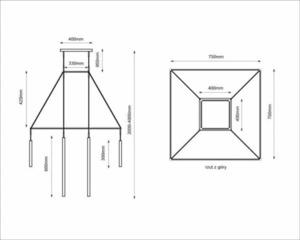 Závěsná lampa Alha H 9010- SHILO-DOHAR small 5