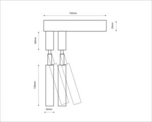 Moderní nástěnná lampa SHILO-DOHAR alha E 9014 small 8