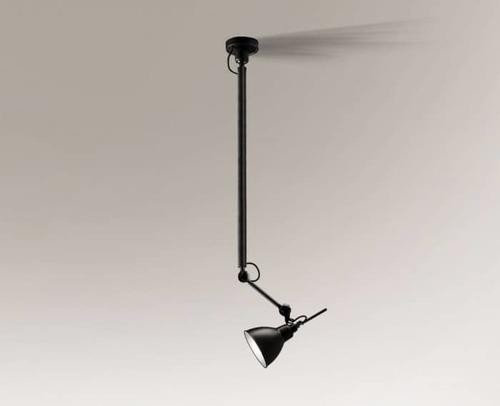 Závěsná lampa nad designovým stolem DAISEN 5624 Shilo E27, s prodloužením ramene