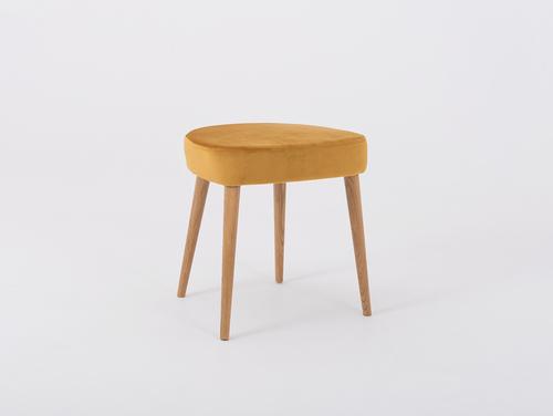 Čalouněná dřevěná stolička KIKO, mučenka