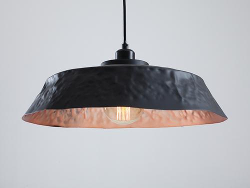 Závěsná lampa ADOR FLAT - měď-černá