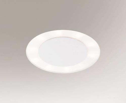 Kulatá zapuštěná lampa BANDO 3321-B Shilo 10xE27 9W oko bílá