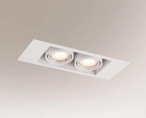 Dvojitá zapuštěná lampa EBINO 3306 Shilo GU5.3 2xMR16 50W obdélníkový