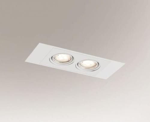 Dvojitá zapuštěná lampa EBINO H 3347 Shilo GU5.3 2xMR16 50W