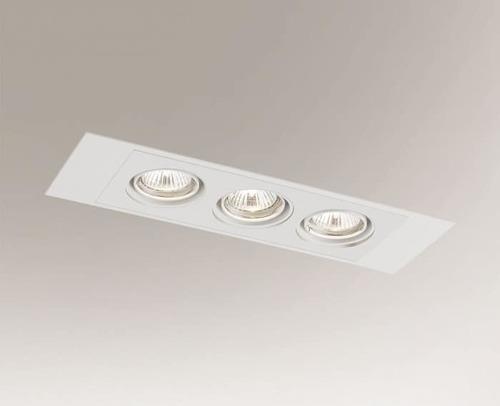 Stropní zapuštěná lampa EBINO H 3348 Shilo GU5.3 3xMR16 50W