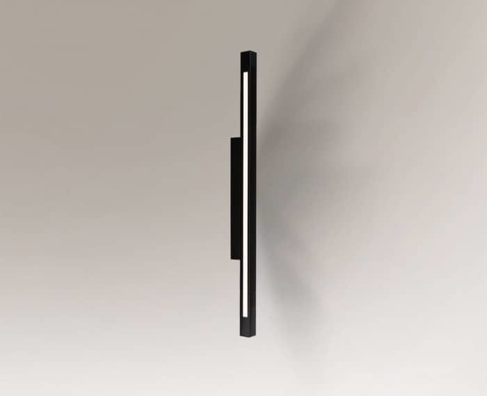 Pevný černý podlouhlý Shilo OTARU 4477 LED vyměnitelný
